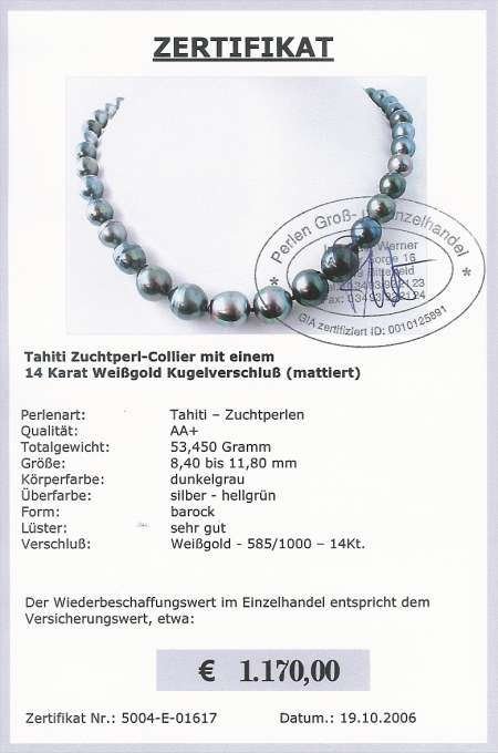 Tahitiperlen Collier