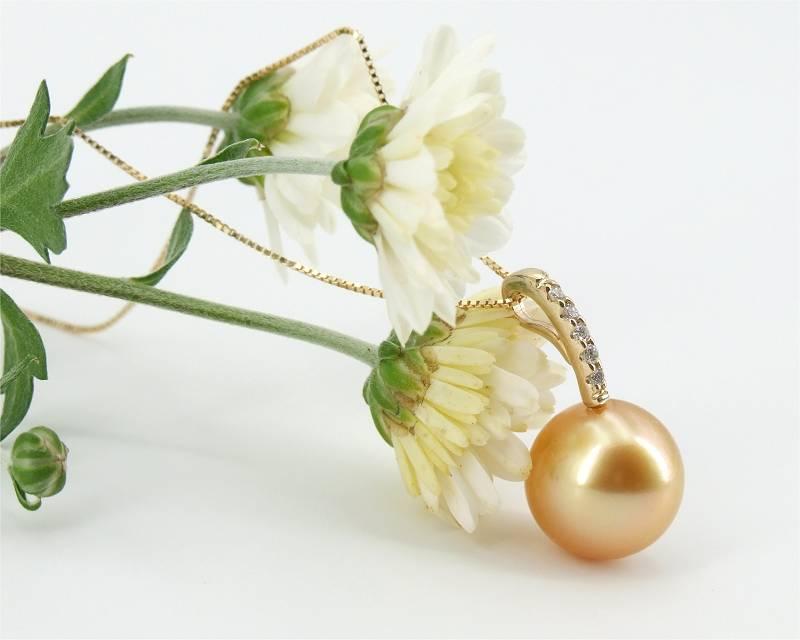 Goldene Südsee Perlen vom EdelKontor