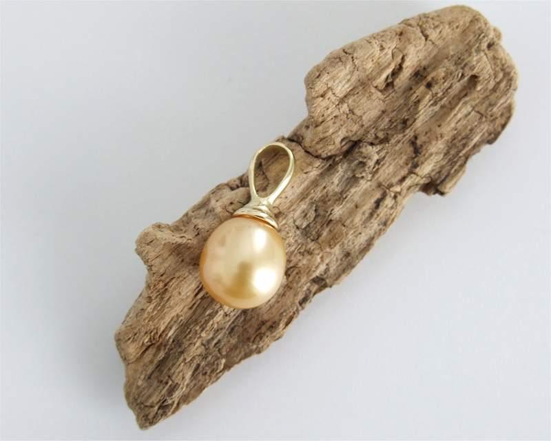 585er Gold Anhänger mit Perle vom Edelkontor