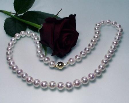kaufen perlencollier bellatrix aaa mm schmuck ketten echte perlenkette. Black Bedroom Furniture Sets. Home Design Ideas